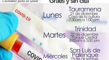 TOMA DE MUESTRAS COVID-19 GRATIS Y SIN CITAS PARA USUARIOS DE CAPRESOCA