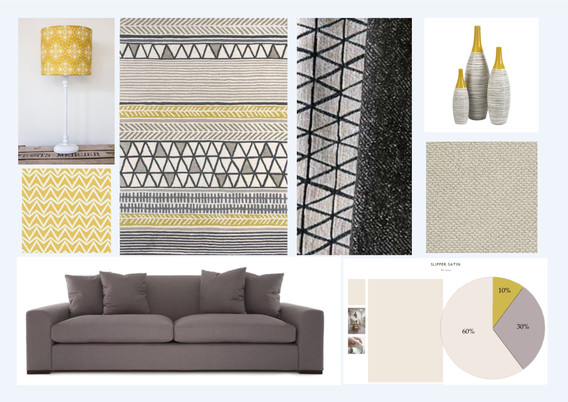 Grey, Beige and Mustard Scheme