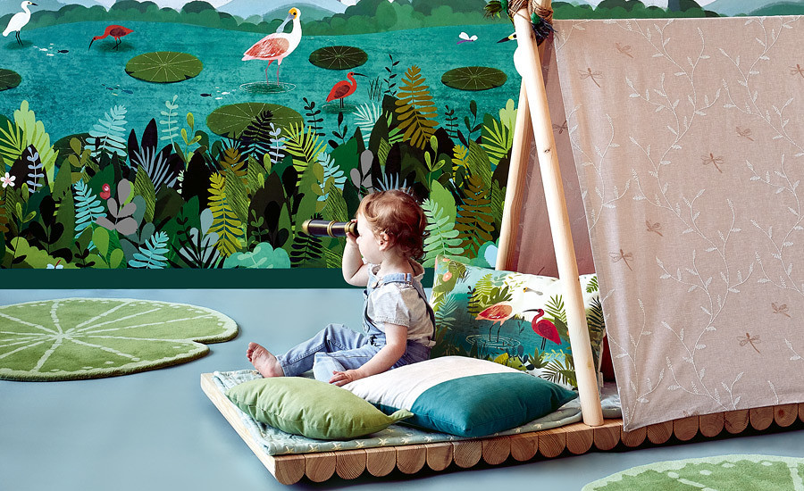 Children's fabrics, Wallpapers and Rugs available from Zenterior Design