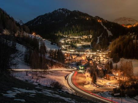 Le village de La Roche et la piste de bobsleigh | La Roche village and bobsleigh track - La Plagne