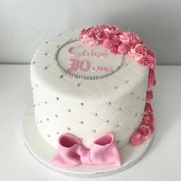 Gâteau Rose et matelassé