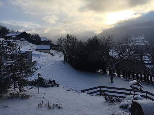 De la neige, un rayon de soleil