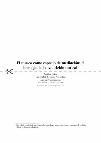 El museo como espacio de mediación: el lenguaje de la exposición museal