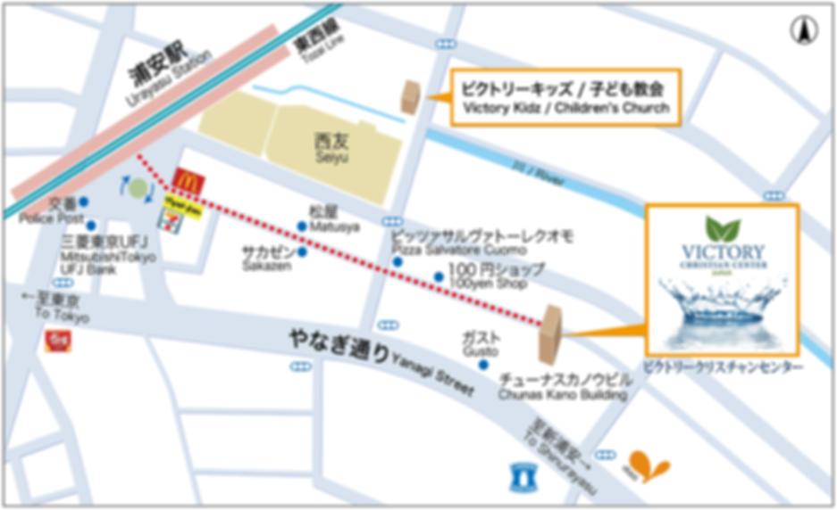 VCC Japan church map