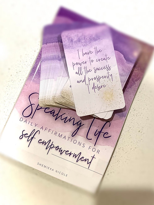 Speaking Life Journal and Affirmation Deck