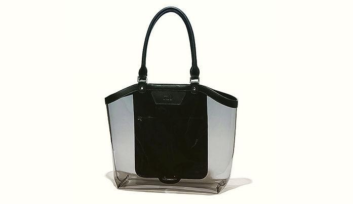 D-VEC PVC & Leather Tote Bag