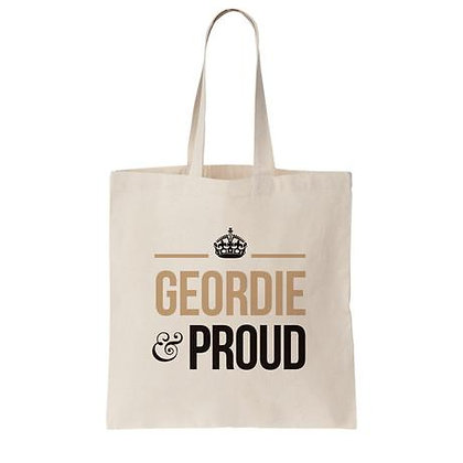 Geordie Gifts - Geordie and Proud Tote Bag