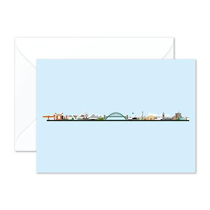 Tyneside Skyline - Greetings Card