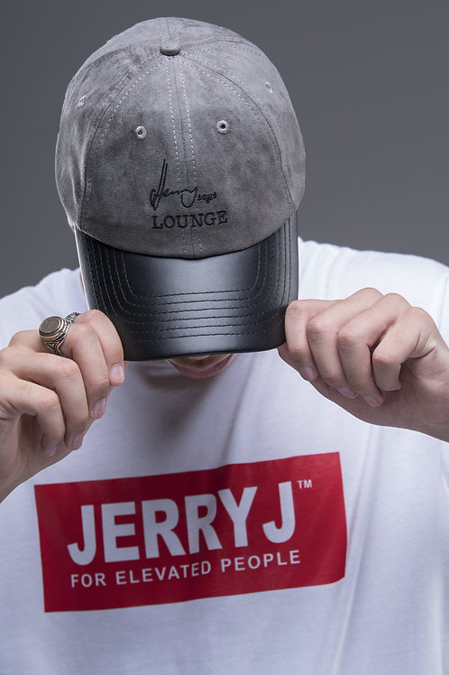 Jerry J: Suede Baseball Cap - Grey