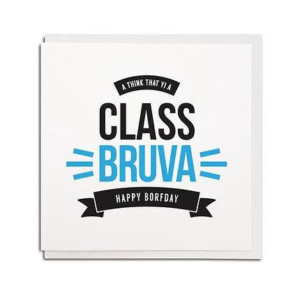 Geordie Gifts - Class Bruva card
