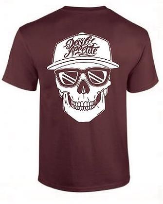 Devil's Appetite: Skull Kap Back Print T-Shirt