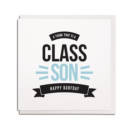 Geordie Gifts - Class Son card