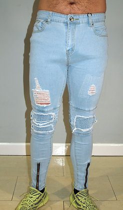 LLORDZ: Ripped and Repaired Skinny Jeans