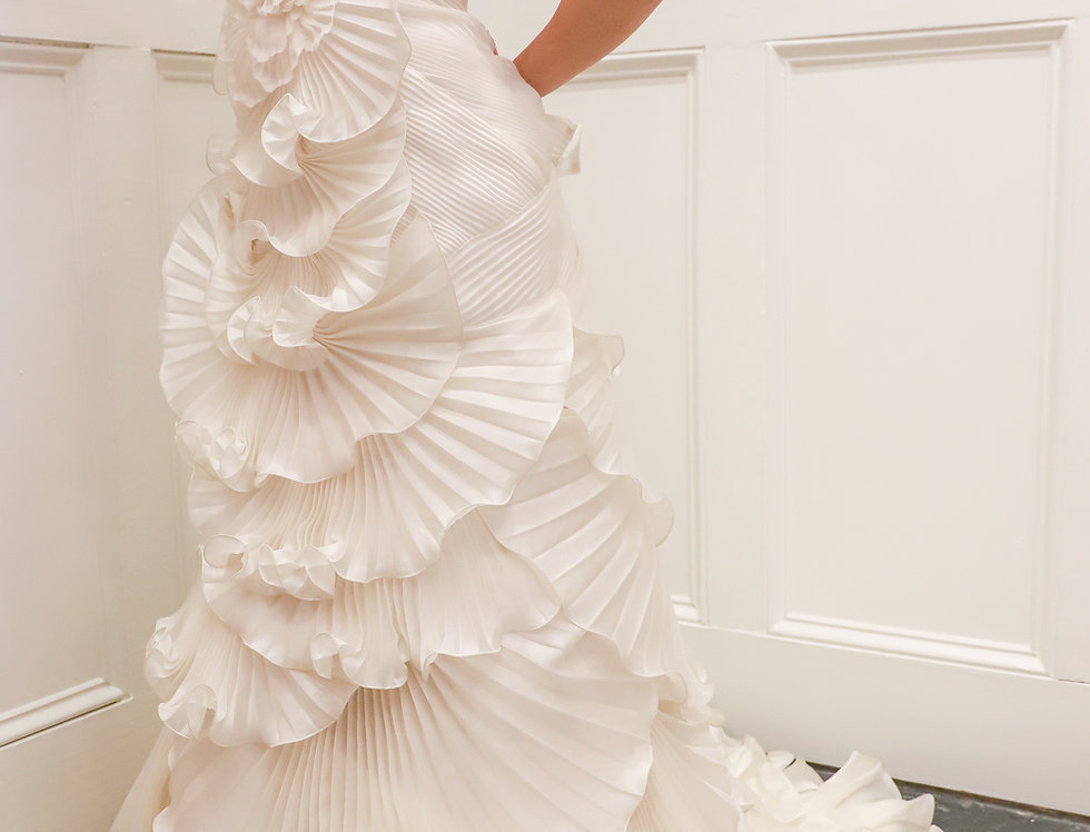 Marchesa Scalloped Gown