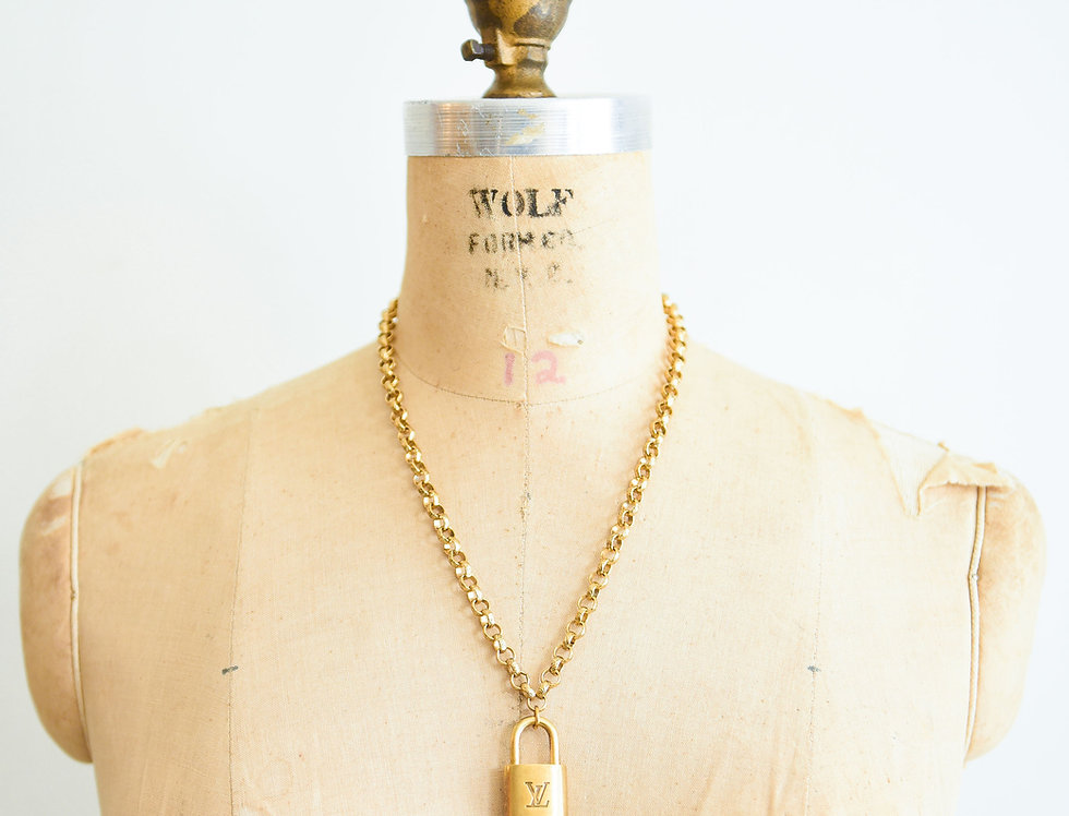 Vintage LV Pendant Necklace