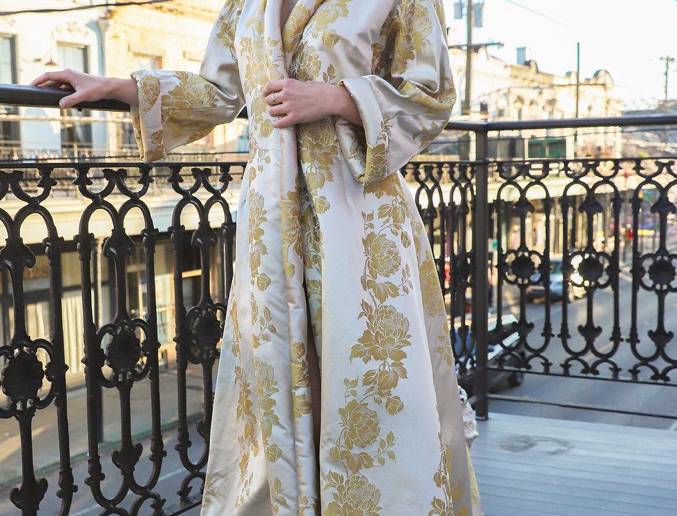 Vintage 1950s silk robe