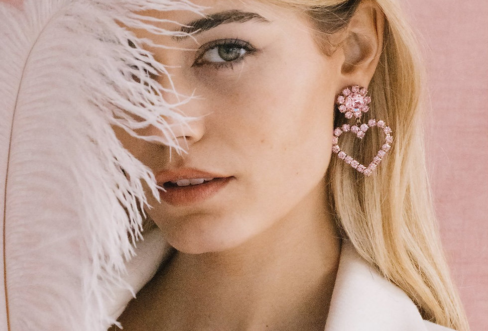 From the Heart Earrings, Blush