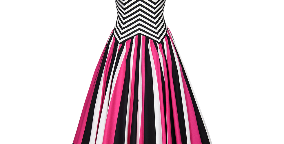 Vintage Victor Costa Stripe Dress