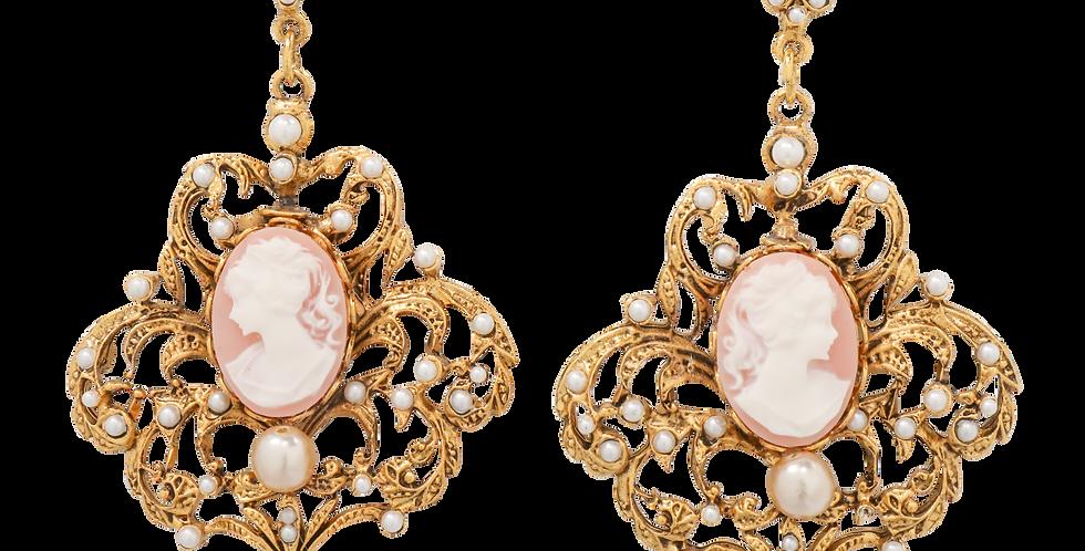 Romantic Cameo Earrings