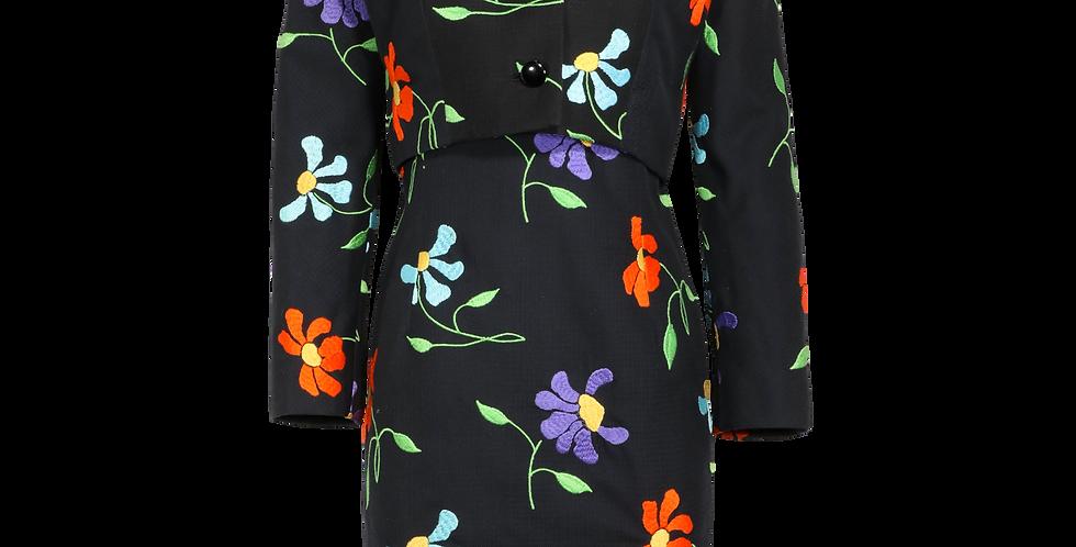 Vintage Balmain Embroidered Dress