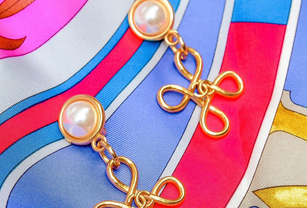 90s Chanel Swirl Earrings