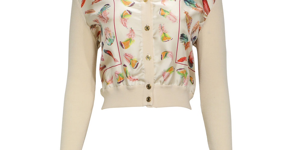 Hermes Feather Cardigan