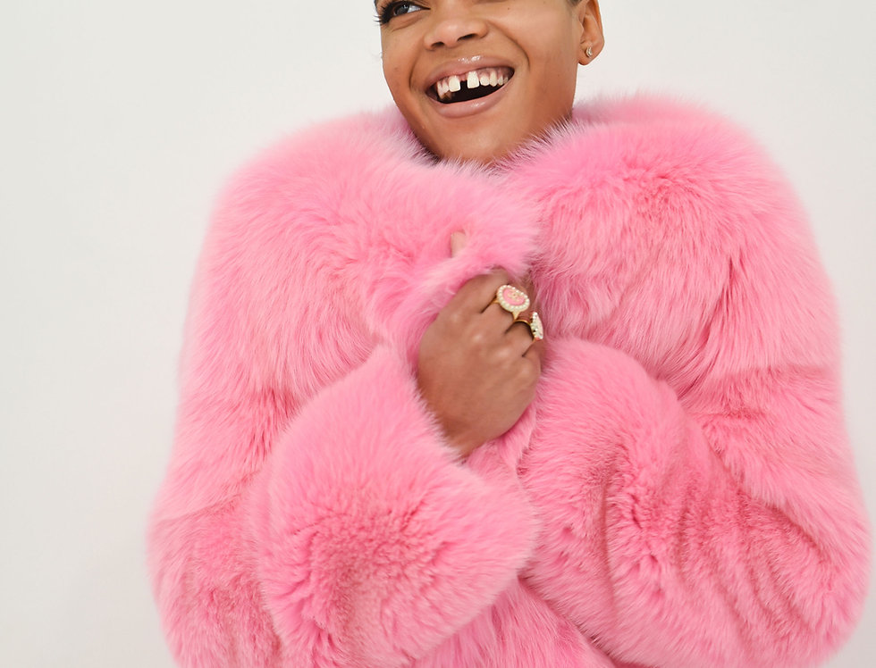 Pink Dreams Fur Coat