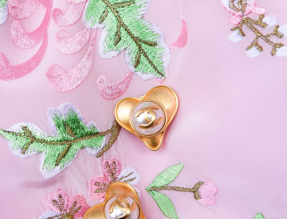 90s Chanel Heart Earrings