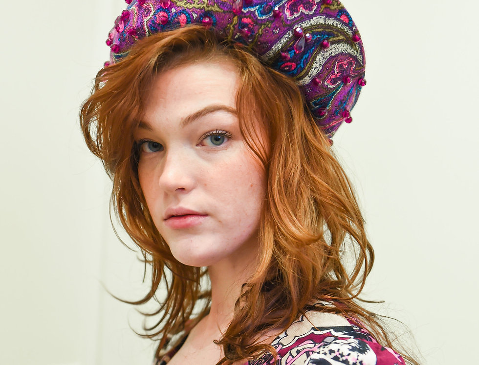 Vintage 1960s Beaded Paisley Hat