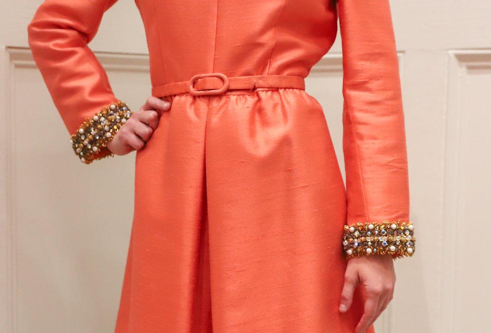 Vintage 1960s Tangerine Dress