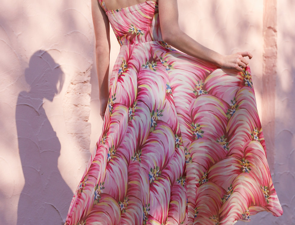 Summer in Italy Chiffon Gown