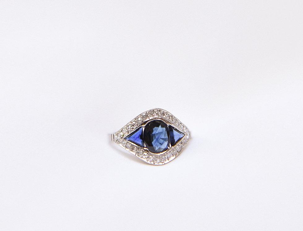 Antique Sapphire Eye Ring