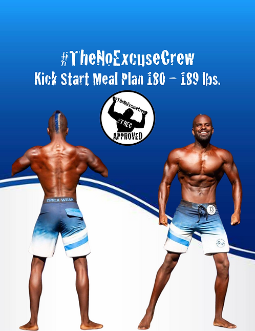 #TNEC Kick Start Meal Plan Weight Class: 180 - 189 lbs.
