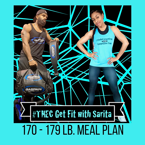 #TNEC Get Fit with Sarita Challenge 2 Meal Plan 170 - 179 lbs.