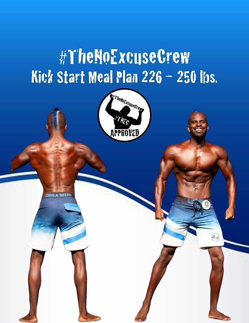 #TNEC Kick Start Meal Plan Weight Class: 226 - 250 lbs.