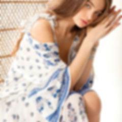 Blue shades 💙_dress Elisa _print isla _