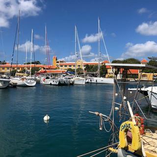 Marina in Kralendijk, unser erster Aufenthalt auf Bonaire.