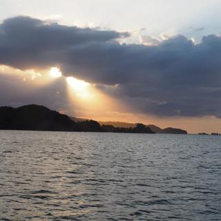 Abendstimmung in der Bahia San Lorenzo