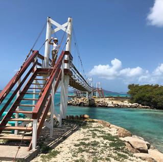 Hängebrücke zu Frigate Island