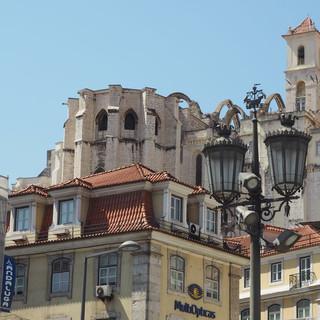 Chiado: Carmokirche, nach dem Erdbeben von 1755 nur noch ein gotisches Skelett
