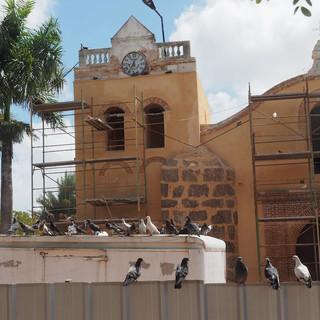 Historische Kirche in einer der ältesten Siedlungen der neuen Welt wird renoviert