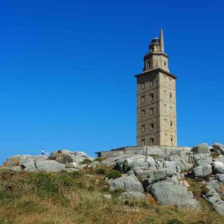 Der Herkules-Turm - UNESCO WELTERBE - ist als einziger römischer Leutturm noch heute in Betrieb.