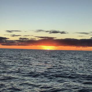 Sonnenaufgang im Atlantik ...
