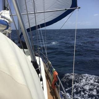 Auf dem Weg nach Curacao - die WoC vom Winde geweht