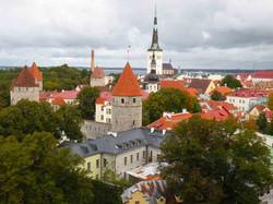Tallinn: Blick über die Dächer