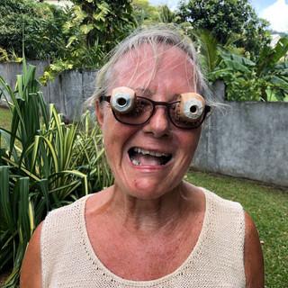 ... mit der sich Suzanne auf Halloween vorbereitet...