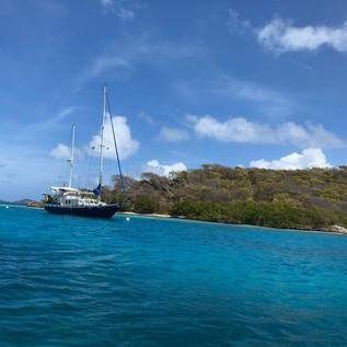 Die WoC am schönsten Platz der Tobago Cays