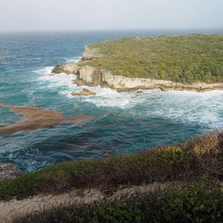 Blick auf die Nordspitze der Insel Guadeloupe.