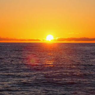 Ein wunderschöner Sonnenaufgang ...