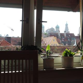Blick über die Dächer von Augsburg, Ausgangspunkt...